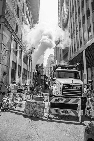 Straat werkers van New York   Art print   Zwart wit   Straatfotografie