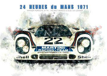 Porsche 917K, Le Mans winnaar 1971 van Theodor Decker