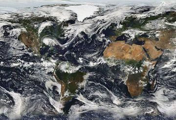 Wereldkaart Bewolkt van