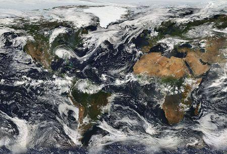 Weltkarte Bewölkt