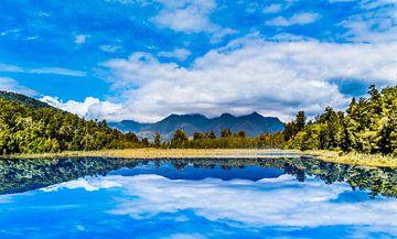 Mirror lake Nieuw Zeeland van Ivo de Rooij
