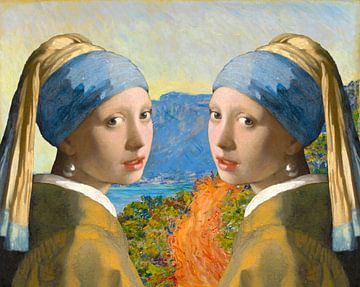 Meisjes met de parels op vakantie van Eigenwijze Fotografie