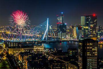 Feuerwerk in Rotterdam von MS Fotografie | Marc van der Stelt