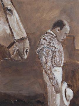 Horse in Spain van Mieke Daenen