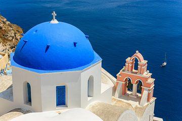 Cycladen architectuur in Oia, Santorini, Griekenland van Henk Meijer Photography