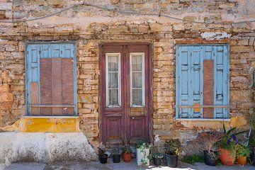 Antike griechische Fenster und Türen von Rinus Lasschuyt Fotografie