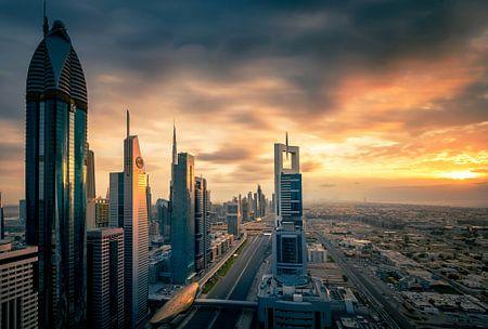Dubai Skyline sunset