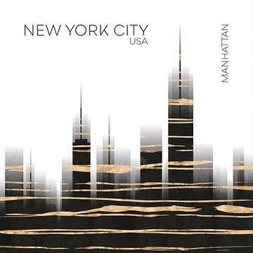 Urban Art NYC Skyline van Melanie Viola