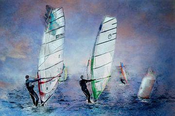 Mit dem Wind in den Segeln (Kunst) von Art by Jeronimo