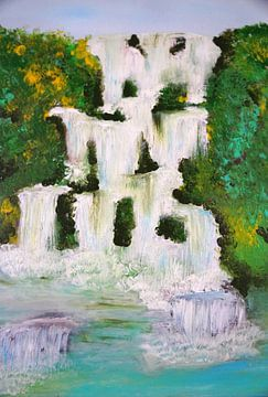 Wasserfall van Babetts Bildergalerie