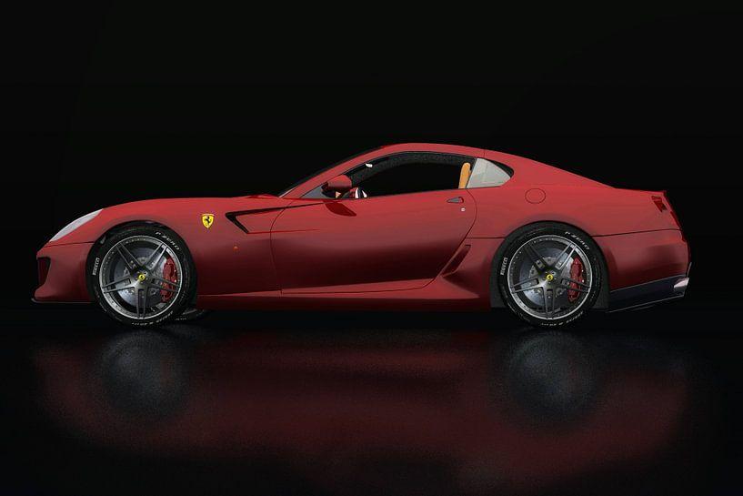 Ferrari 599 GTB Fiorano Zijaanzicht van Jan Keteleer