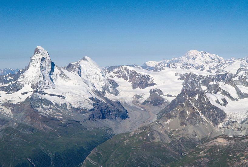 Matterhorn en Mont Blanc van Menno Boermans