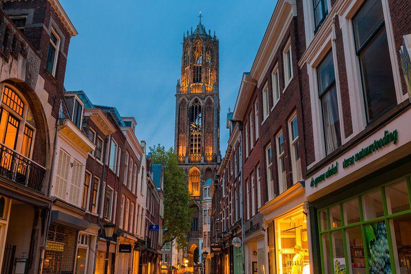 De Dom vanaf de Zadelstraat - Utrecht van Thomas van Galen