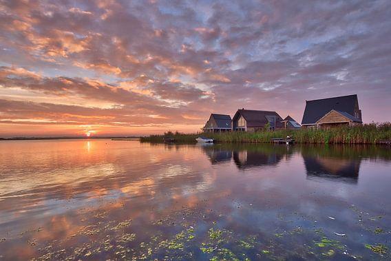 zonsopgang in Meerstad van ard bodewes