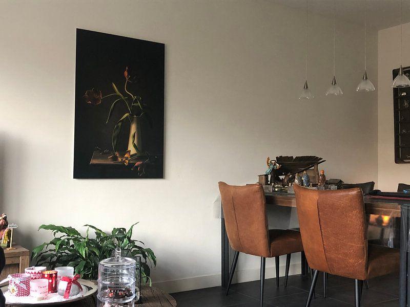 Kundenfoto: Stillleben-Vergänglichkeit von Monique van Velzen, auf alu-dibond