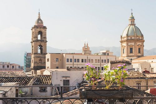 Uitzicht in Palermo van Perry Wiertz