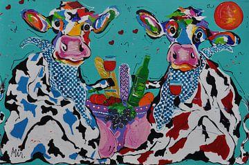 Burgundische Kühe von Kunstenares Mir Mirthe Kolkman van der Klip
