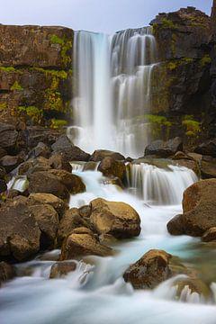 De Öxarárfoss, IJsland van Henk Meijer Photography