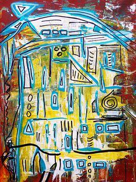 abstrakte Malerei von Augenblicke im Bild