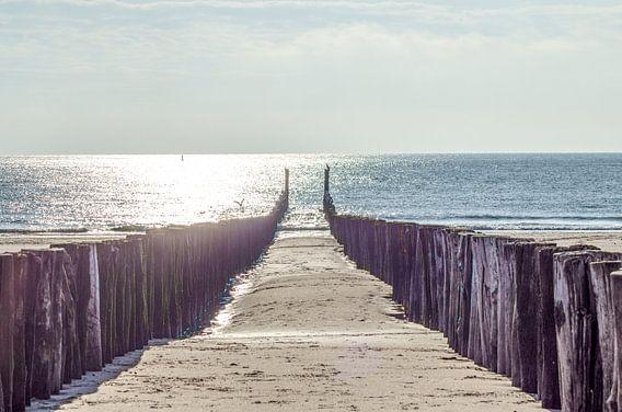 weg naar de zee