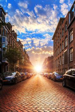 Urban Amsterdam zonsopkomst van Dennis van de Water