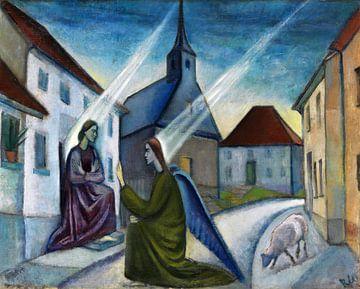 Verkondiging, ANITA RÉE, 1916-1919 van Atelier Liesjes