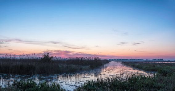 Panorama voor zonsopkomst De Onlanden in Pastels