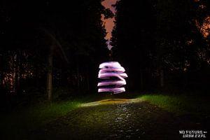 Lightpainting: Path of Darkness van Jarno De Smedt