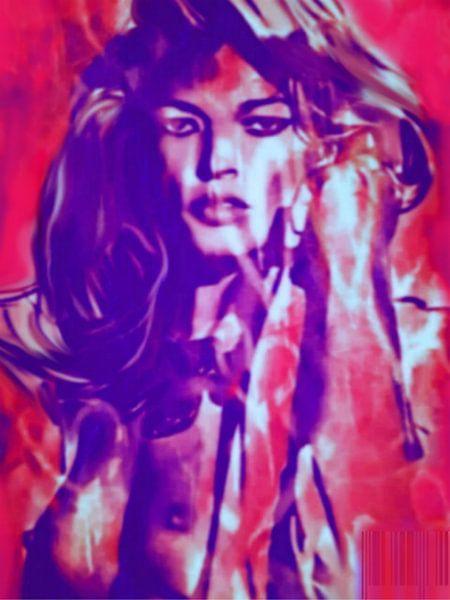 Kate Moss Sexy Pop Art PUR van Felix von Altersheim