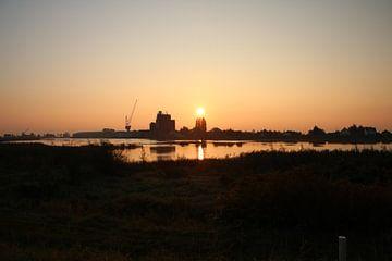 zonsopkomst boven de Hollandsche IJssel sur André Muller