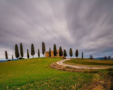 Agriturismo I Cipressini - Val d'Orcia - Long Exposure van Teun Ruijters