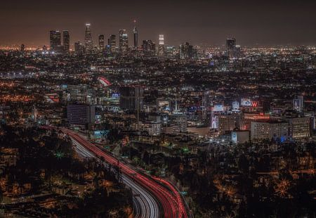 Los Angeles skyline, Mullholland drive