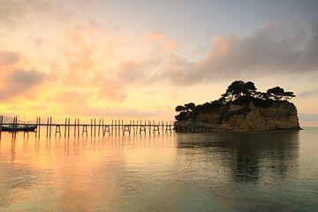 Holzsteg zur Kamee-Insel, Zakynthos, Griechenland von FotoBob
