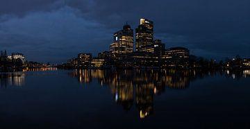 Skyline von Amsterdam. Großes Panorama 2:1 von FotoBob