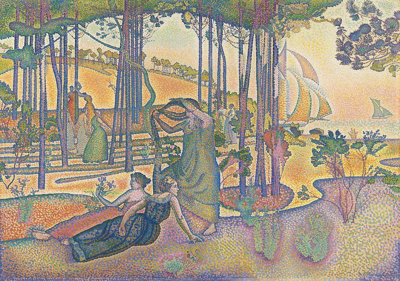 Die Abendluft, Henri-Edmond Cross von Meesterlijcke Meesters