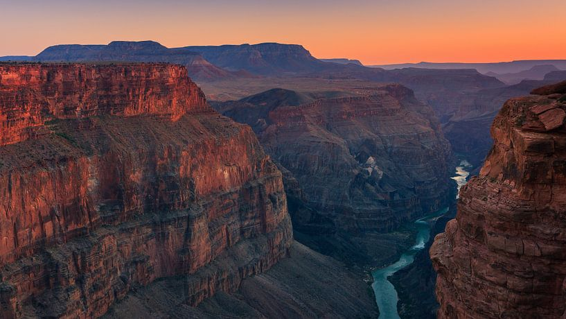 Zonsondergang Grand Canyon N.P North Rim van Henk Meijer Photography