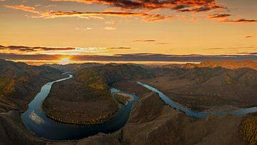 Egiin Gol Fluss in der Mongolei von Dieter Meyrl