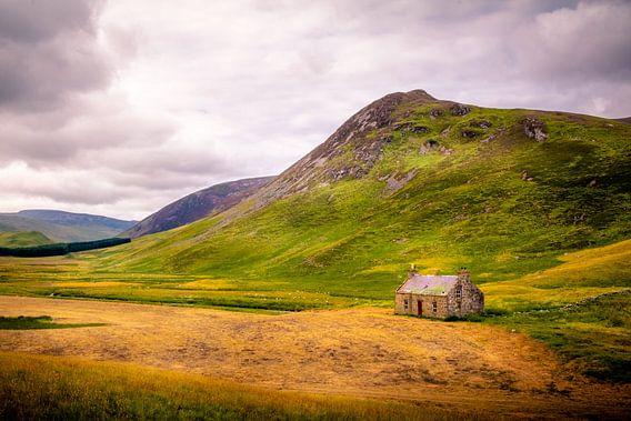 Verlaten huis Highlands (Schotland)