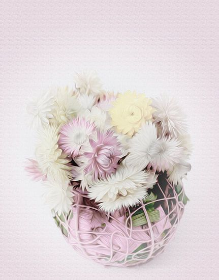Strohblumen van Gabriele Haase