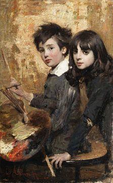 Cesare Tallone~der junge Maler
