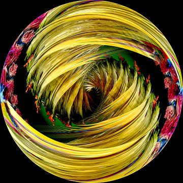 Glazen bol Abstract van Andree Jakobson