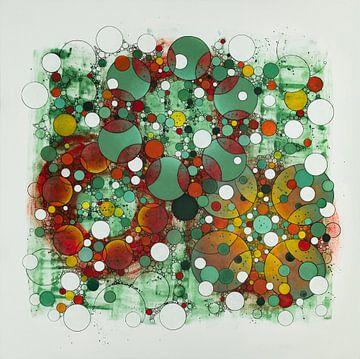 Donkergroene stip van Birgitt Shannon
