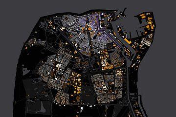 Kaart van Den Helder abstract sur Stef Verdonk