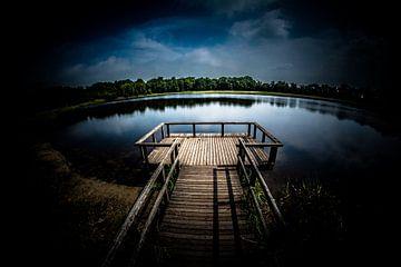 Rozenven op landgoed Visdonk in Roosendaal (Brabant) (bewerkt) van Fotografie Jeronimo