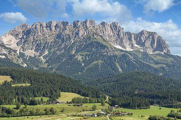 Blick von Ellmau zum Kaisergebirge von Peter Eckert