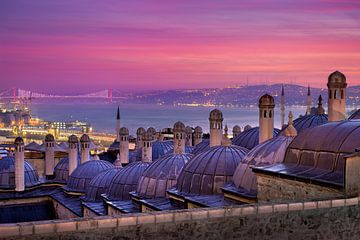 Zonsopgang in Istanbul van Michael Abid