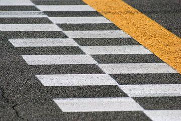 Start en finish op Monza, F1 circuit van Jeroen van Deel