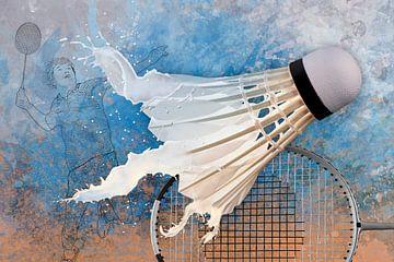 Le sport rencontre l'éclaboussure - Badminton sur Erich Krätschmer