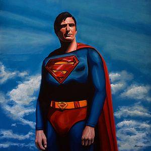 Christopher Reeve as Superman schilderij