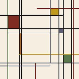 Lines-Piet Mondrian van Marion Tenbergen